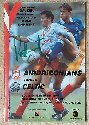 Rod Stewart Signed Celtic V Airdrieonians Football Programme 23/1/1993