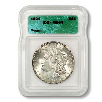 USA Morgan Dollar Wholesale Pricing! $1 1921  ICG MS64