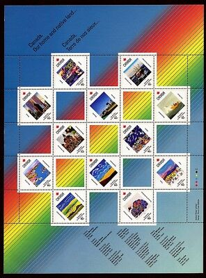 Canada #1431a Canada Day 1992 Pane of 12 MNH