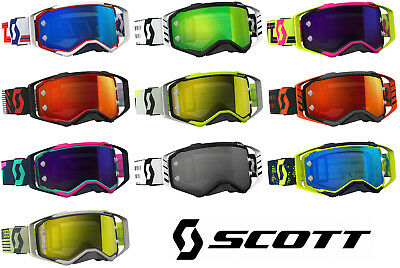 2018 SCOTT PROSPECT MOTOCROSS MX GOGGLES with CHROME WORKS MIRROR LENS tear off