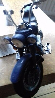 Franklin mint.Harley Davidson biker blues 1/10 scale motorcycle