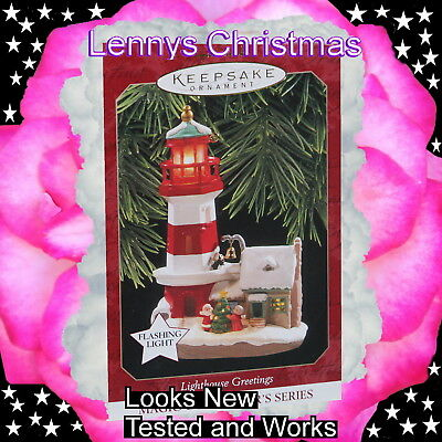 Hallmark Ornament, 1997 Lighthouse Greetings, Looks New