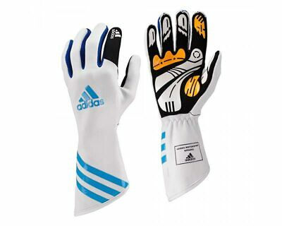 Adidas Xlt Kart Glove White / Blue Xl Go Kart Karting Race Racing