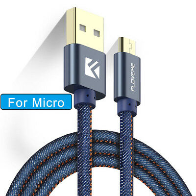 Heavy Duty Micro USB FAST Data Charger Cable for Samsung Galaxy S4 S5 S6 S7 Edge