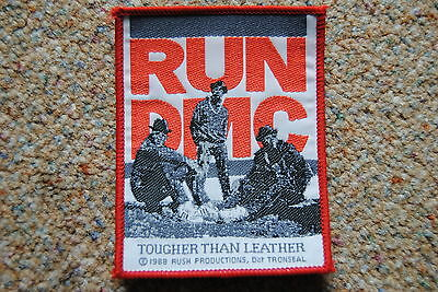 Run Dmc Tougher Than Leather Woven Sew On Patch New Official Raising Hell