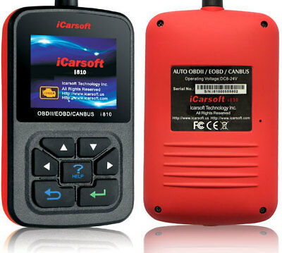 iCarsoft i-810 OBD2 Diagnosegerät Mercedes BMW VW GMC Ford Peugeot Kia Opel uvm