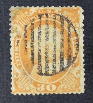 CKStamps: US Stamps Collection Scott#38 30c Franklin Used Corner Repaired CV$425