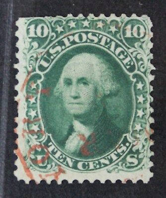 CKStamps: US Stamps Collection Scott#62B 10c Washington Used CV$1600