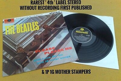 "Beatles "" Please Please Me ""super Uk Rarest 63 Label Stereo No Rec 1St Pub 1G"