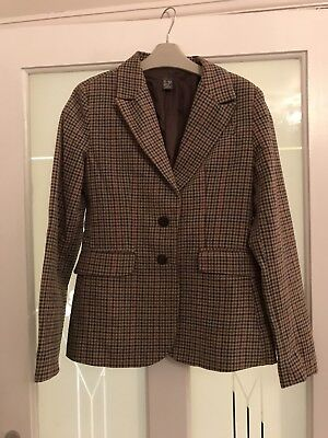 Girls Zara Brown Tweed Fitted / Fully Lined Jacket Age 11-12 Years VGC