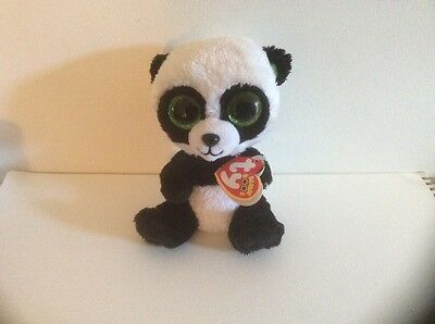 BAMBOO.TY BEANIE PANDA.  WITH TAGS..5 inch..sparkly eyes