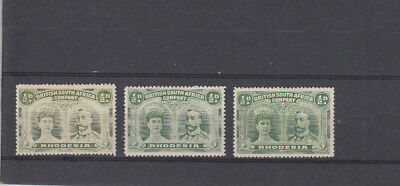 3 very nice unused High Cat Value BSAC Rhodesia Double Head Issues SG119/120/121