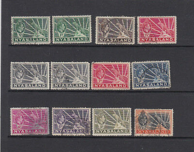 A very nice old Nyasaland George VI group to 1 Shilling