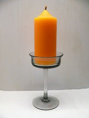 "WEDGWOOD 'ARTHUR' CANDLESTICK - W 29 MIDNIGHT GREY - 5"" TALL - 60's + STICKER"