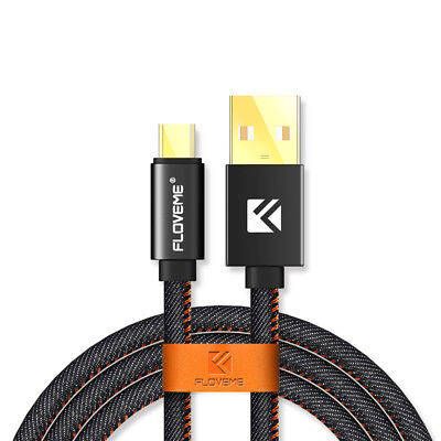 Floveme 1m 2m 3m 30cm Premium Micro USB Fast Charging Cable Strong Braided Lead