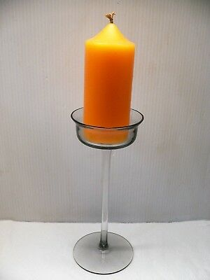 "WEDGWOOD 'ARTHUR' CANDLESTICK - W 29 MIDNIGHT GREY - 7.75"" TALL - 60's / 70's"