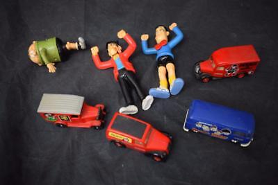 Collection Of 7 Classic Beano Figures And Vehicles