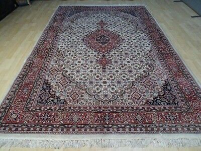 "Large PERSIAN design  RUG CARPET HAND MADE vintage WOOL oriental 9ft 8"" x 6ft 5"""