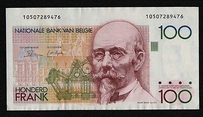 BELGIUM (P142a) 100 Francs ND(1982) aXF/XF sign. Dasin / Strijcker