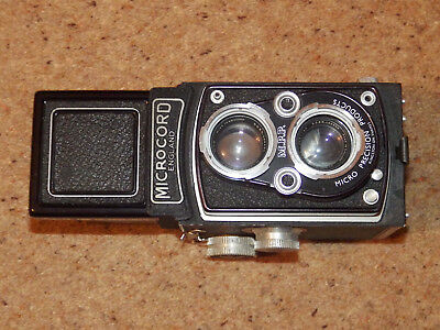 Vintage 1950's MPP Microcord Camera   in a  Leather Case & Instruction Book