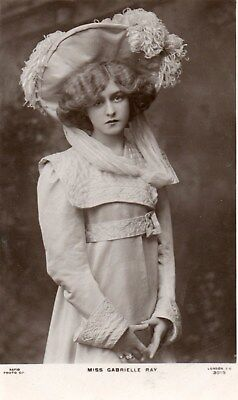 Edwardian Actress,Miss Gabrielle Ray,Photographic Postcard See Scans