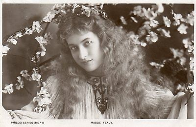 Edwardian Actress,Miss Maude Fealy,Photographic Postcard See Scans