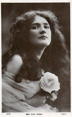 Edwardian Actress,Miss Daisy Irving,Photographic Postcard See Scans