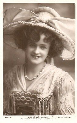 Edwardian Actress,Miss Gertie Millar,Photographic Postcard See Scans