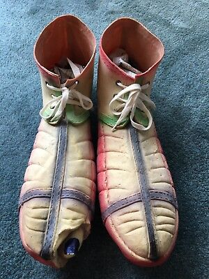 Old Rubber Halloween Party Costume Oversized Large Huge Long Clown Monster Shoes