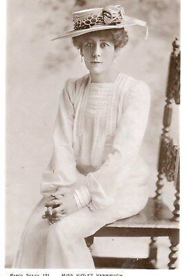 Edwardian Actress,Miss Violet Vanbrugh,Photographic Postcard See Scans