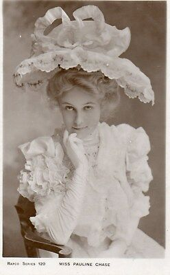 Edwardian Actress,Miss Pauline Chase,Photographic Postcard See Scans
