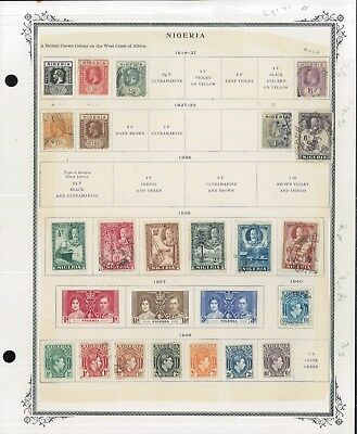 1914-1956 British Africa Nigeria Mint & Used Postage Stamp Collection Value $741