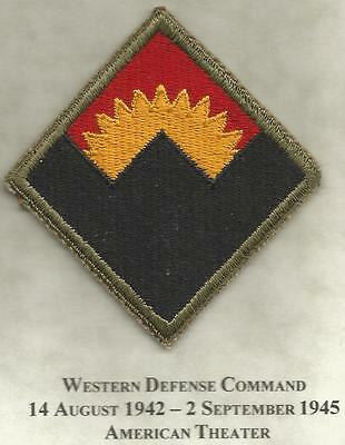 WW 2 US Army Anti-Aircraft Command Western Patch Inv# JR230