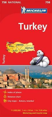 NEW Turkey By Michelin Road Map Folded Sheet Map Free Shipping
