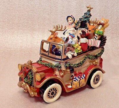 Fitz And Floyd Santa Mobile Music Box Christmas Centerpiece