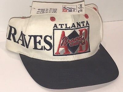 b4708c755213e ... top quality vintage 90s mlb the game atlanta braves snapback hat new w  tags 5d070 7d85d