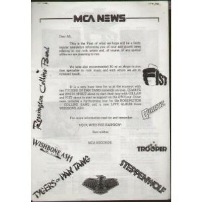 MCA NEWS Issue 1 NEWSLETTER UK Mca 1980 8 Page Record Label Newsletter