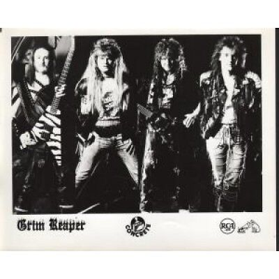 NWOBHM GRIM REAPER Band Shots PHOTOGRAPH US Rca Black And White Promo Showing