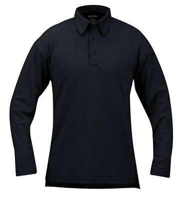Mens Performance Tactical Polo Shirt Propper ICE Long Sleeve LAPD Navy F5315