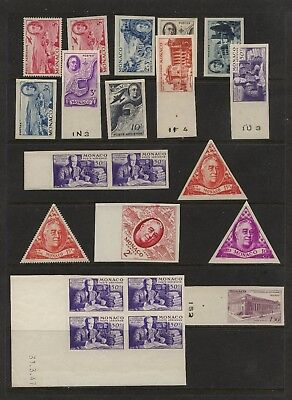 Monaco  nice lot  of  mostly  imperforate  Roosevelt  proofs      AP1001