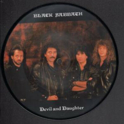 """BLACK SABBATH Devil And Daughter 7"""" VINYL UK Irs 1989 Limited Edition One Sided"""