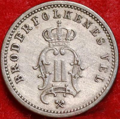 1890 Sweden 10 Ore Foreign Coin Free S/H