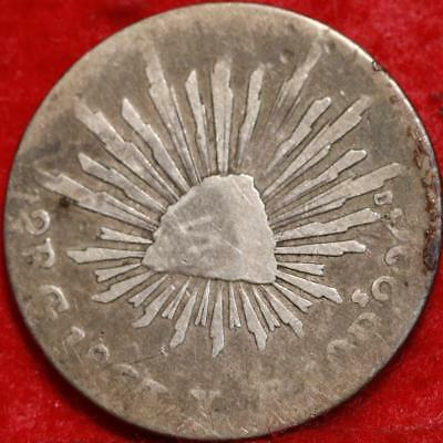 1868/7 Mexico 2 Reales Silver Foreign Coin Free S/H