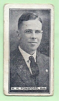 1926  Sweetacres (MINTIES)  Cricket  Card:  BILL  PONSFORD