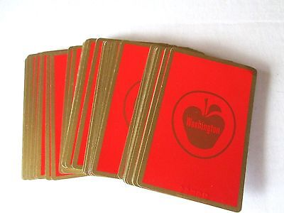 Vintage Redislip Red Washington Apples Playing Cards Deck Card Serial Numbered