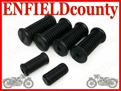 Royal Enfield Complete Footrest Pedal Rubber Kit @aus