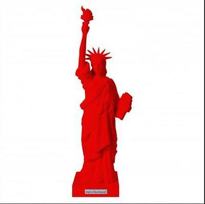 New York Statue of Liberty Liberty Toro Red Poly Model 41cm, limited certificate
