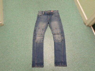 "Blue Zoo Relaxed Jeans Waist 31"" Leg 31"" Faded Dark Blue Boys 13Yrs Jeans"