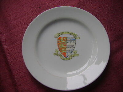 Small Plate With Crest For Great Yarmouth