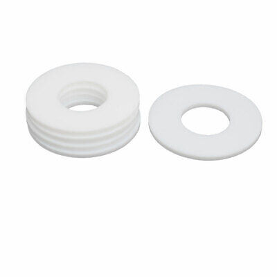 DN20 25mmx58mmx3mm PTFE Flat Washer Gasket White 5pcs